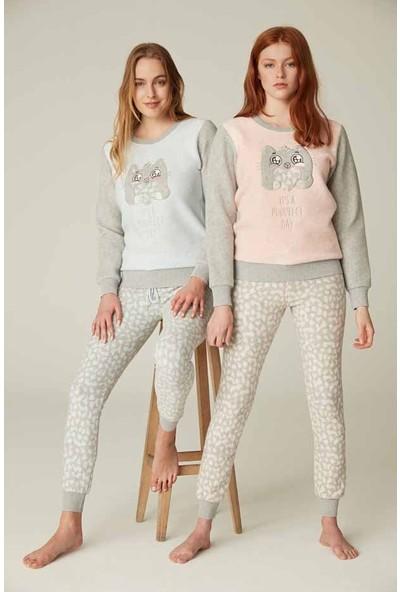 Feyza 3529 Kadın Uzun Kollu Pijama Takımı
