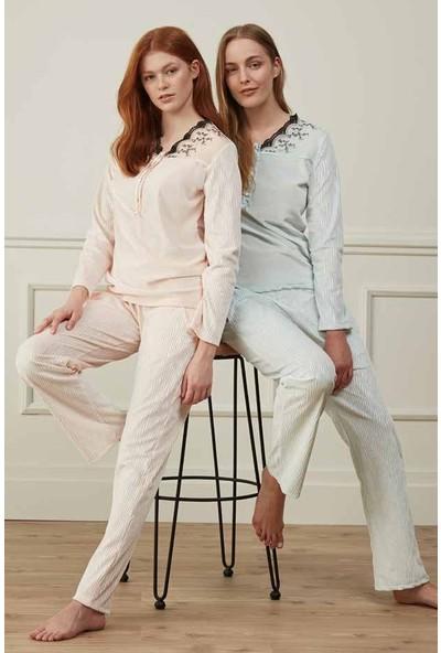 Feyza 3548 Kadın Uzun Kollu Pijama Takımı