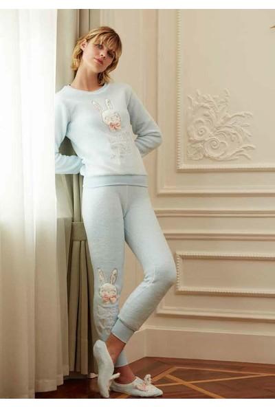 Feyza 3553 Kadın Uzun Kollu Pijama Takımı