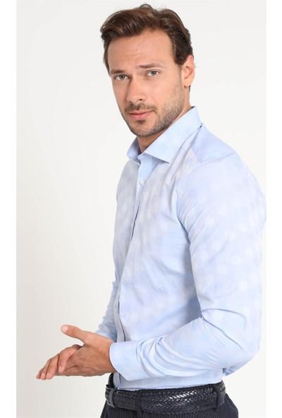 Lufian Erkek Slim Fit Marche Smart Gömlek