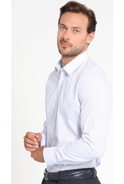 Lufian Erkek Slim Fit Marsala Smart Gömlek