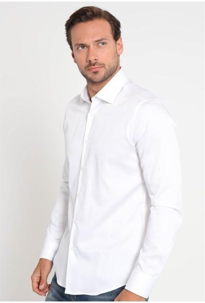 Lufian Erkek Slim Fit Nımes Basic Gömlek