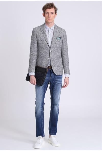 Lufian Erkek Slim Fit Pesaro Spor Blazer Ceket