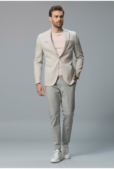 Lufian Erkek Slim Fit Liffey Spor Blazer Ceket