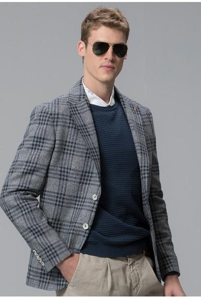 Lufian Erkek Slim Fit Portimao Spor Blazer Ceket