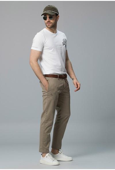 Lufian Erkek Slim Fit Brand Fashion Chino Pantolon