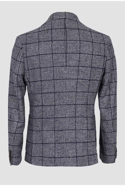 Lufian Erkek Slim Fit Lınza Spor Blazer Ceket