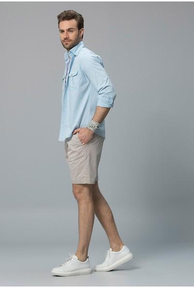 Lufian Erkek Comfort Slim Fit Slaney Spor Gömlek