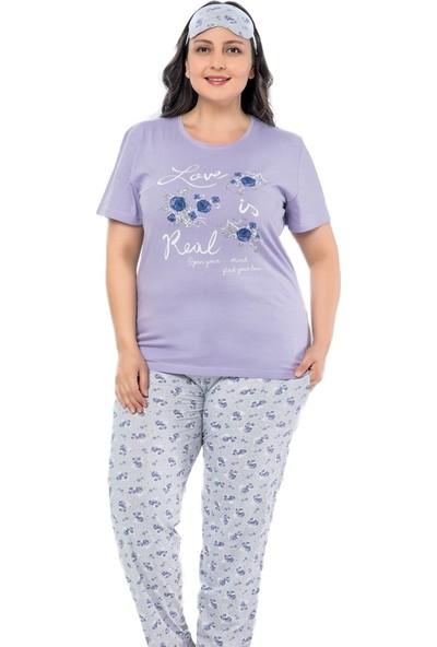 Pijama Evi Love Desenli Büyük Beden Büyük Beden Battal Pijama Takımı