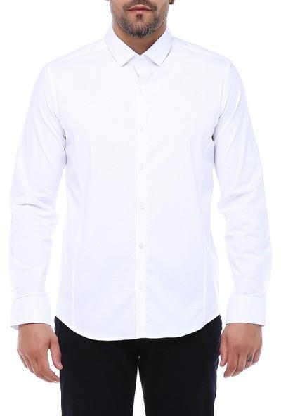 Manche Beyaz Likra Poplin Gömlek   ME19S112031