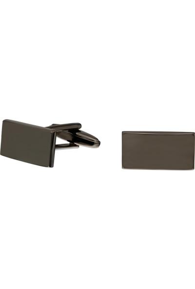 Chavin Parlak Buz Siyah Çelik Kol Düğmesi DY82SY