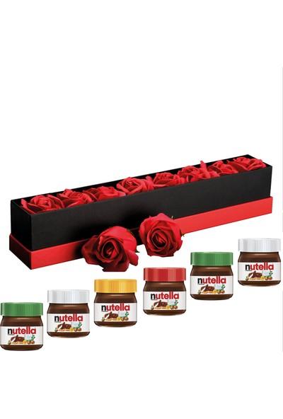Chavin Aşk ve Nutella Kutusu Güller Mini Nutella Kavanozları YP101