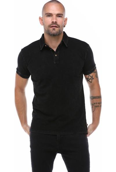 Port Royale Erkek Siyah İndigo Polo T-Shirt