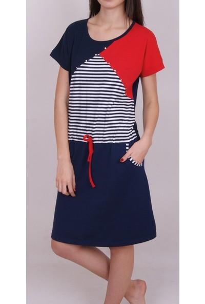 Nicoletta Kadın Tunik Ev Elbisesi Kısa Kollu