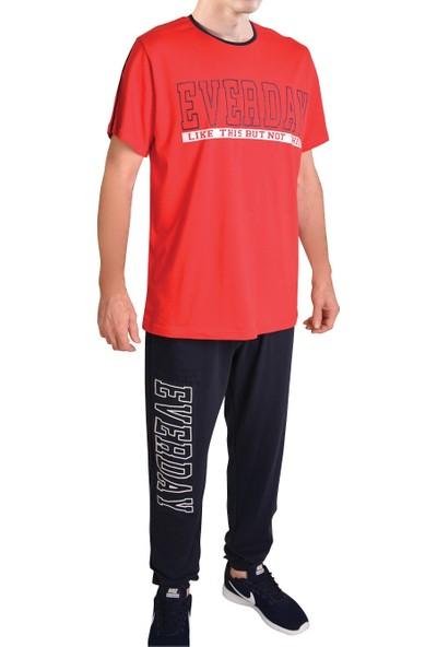 Tom John Erkek Pijama Takımı Kısa Kollu Cepli Pamuk