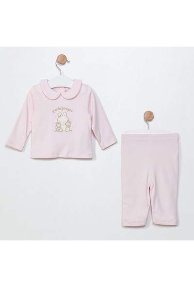 Funna Baby Pijama Takım - Grande Famiglia - Pembe