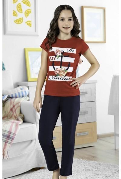 Hmd Kız Çocuk Kısa Kol Pijama Takımı