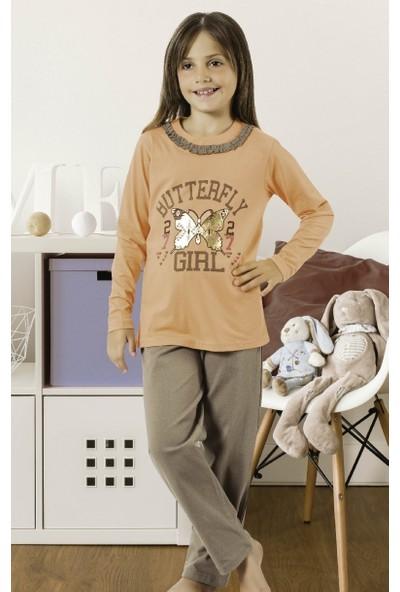 Hmd Kız Çocuk Uzun Kol Pijama Takımı