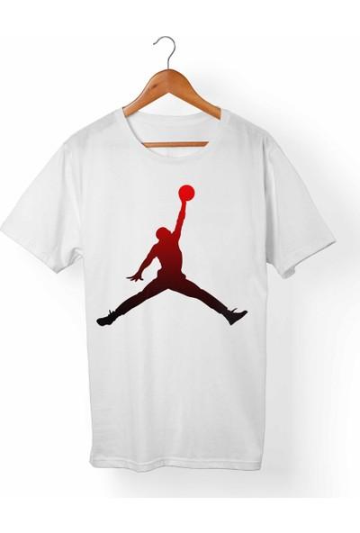 Muggkuppa Nba - Jordan Çocuk Beyaz T-Shirt