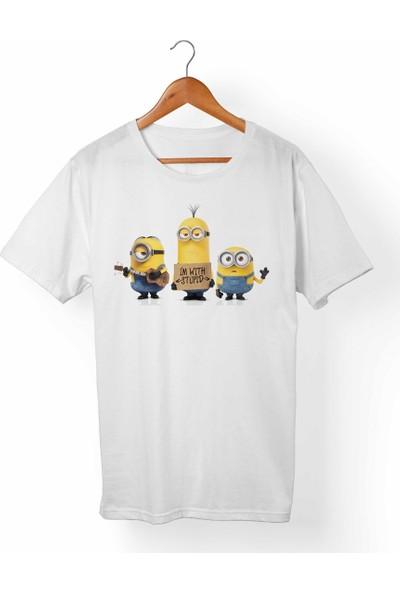 Muggkuppa Minions Çocuk Beyaz T-Shirt