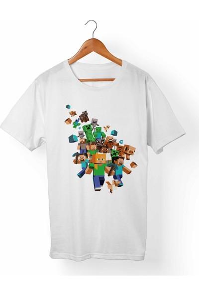 Muggkuppa Minecraft Çocuk Beyaz T-Shirt