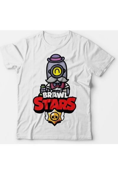 Muggkuppa Brawl Stars Barley Çocuk Beyaz T-Shirt