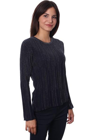 Selis Kadın Triko Bluz 6063 Lacivert/Navy 28W08006063