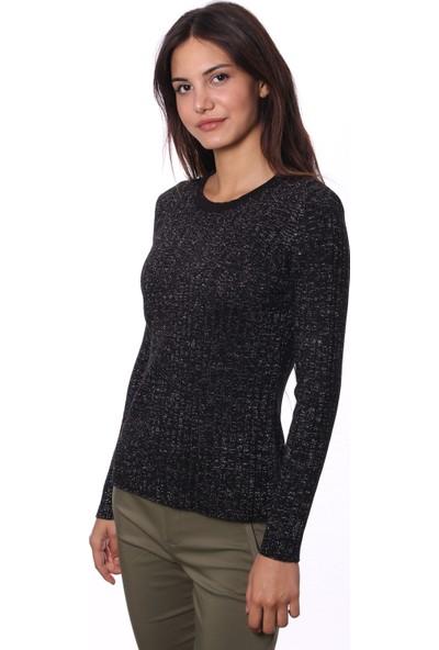Selis Kadın Triko Bluz 6067 Siyah/Black 28W08006067