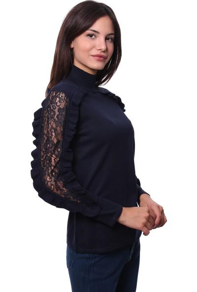 Selis Kadın Triko Bluz 6035 Lacivert/Navy 28W78006035