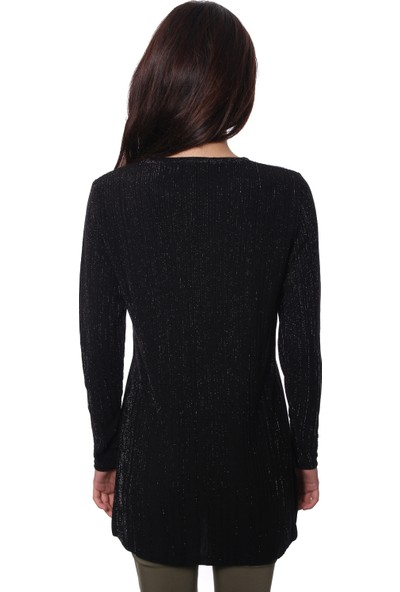 Selis Kadın Triko Tunik 6601 Siyah/Black 28W78006601