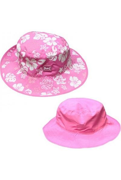 Kidz Banz Pembe Bahçe Çift Taraflı Şapka Kız