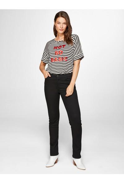Faik Sönmez Kadın Normal Bel Straight Jean Pantolon 39039