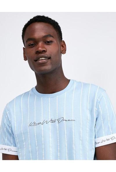 King Will Dream Blue Stripe Kol Lastik Erkek T-Shirt