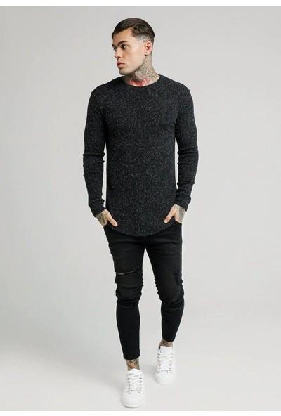 Siksilk Black Knitwear Erkek Balıkçı Triko Kazak