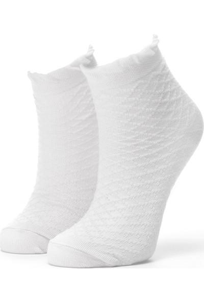 Ciorap Kız Çocuk Ekru Elmas Desenli Çorap 2415