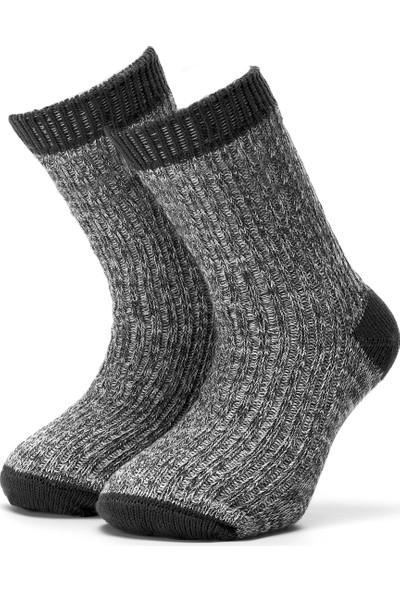 Ciorap Erkek Çocuk Füme Trekking Çorap 2417