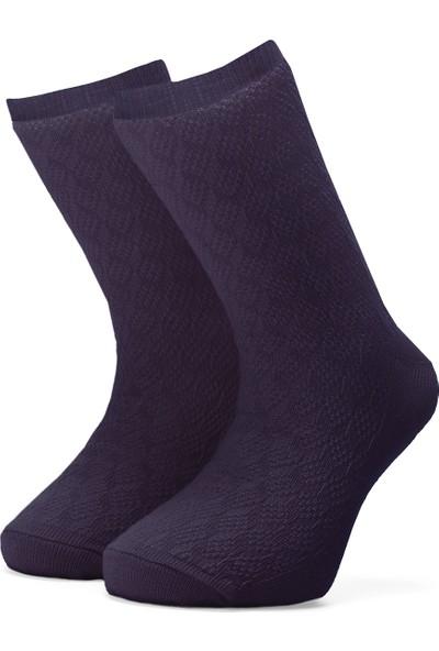 Ciorap Kız Çocuk Mor Örgülü Çorap 2419
