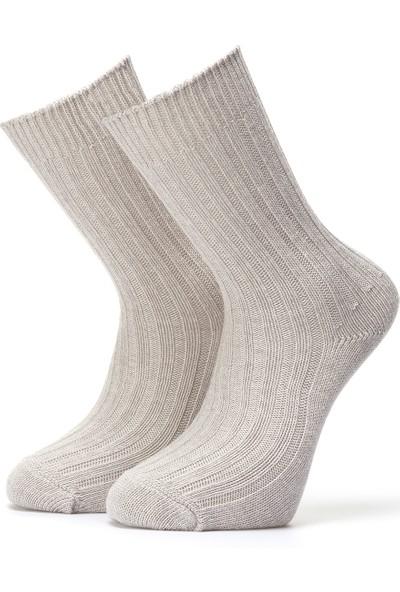 Ciorap Erkek Açık Gri Trekking Çorap 4472