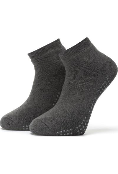 Ciorap Erkek Füme Taban Altı Noktalı Havlu Çorap 4456