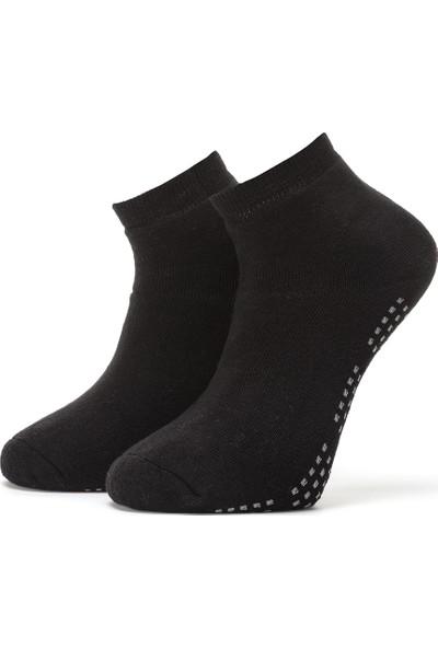 Ciorap Erkek Siyah Taban Altı Noktalı Havlu Çorap 4456