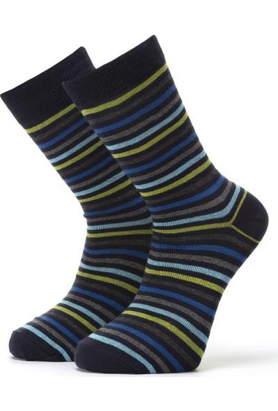 Ciorap Erkek Yeşil Çember Desenli Çorap 4417