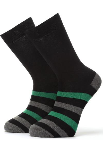 Ciorap Erkek Yeşil Çember Desenli Çorap 4460