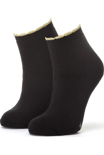 Ciorap Kadın Siyah Pikotlu Çorap 3454