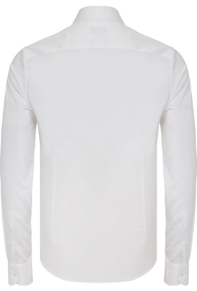 Paşahan Erkek Yaka İğneli Slim Fit Gömlek