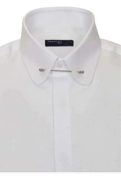 Paşahan Erkek Bebe Yaka İğneli Slim Fit Gömlek