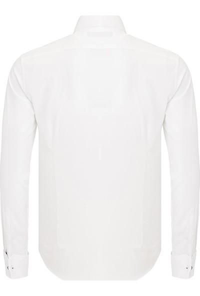 Paşahan Erkek Double Manşet Slim Fit Gömlek