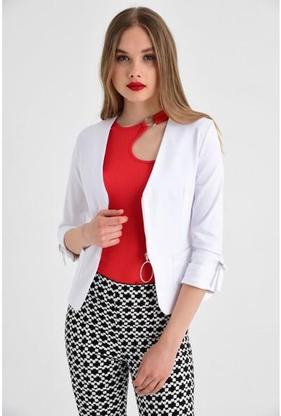 Jument Kadın 30002 Beyaz Ceket