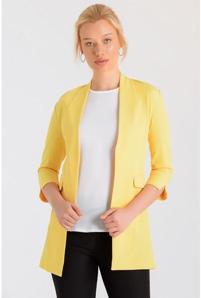 Jument Kadın 39001 Sarı Ceket