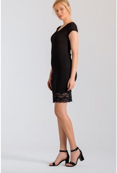 Jument Kadın 7110 Siyah Elbise