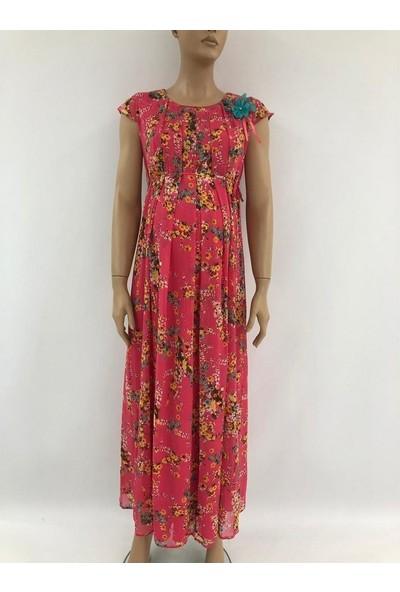Trendy Şifon Uzun Hamile Elbise